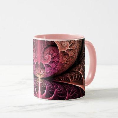 Heartbeat, Abstract Surreal Fantasy Fractal Art Mug
