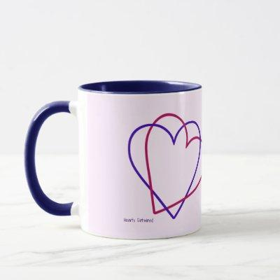 Hearts Entwined Right/Left-Handed Mug