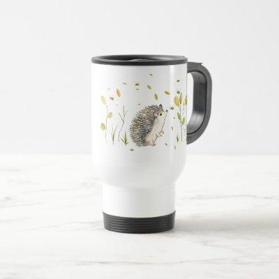 Hedgehog Personalized Travel Mug
