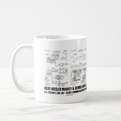 Hedy Kiesler Markey G. Antheil US Patent 2292387 Coffee Mug