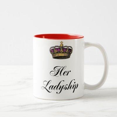 Her Ladyship Two-Tone Coffee Mug