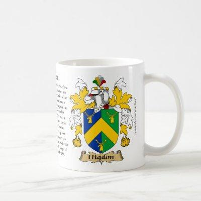 Higdon, the Origin, the Meaning and the Crest Coffee Mug
