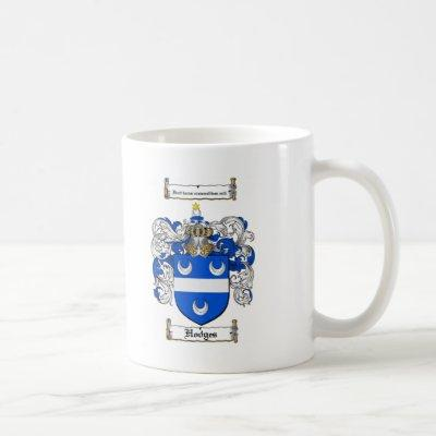 HODGES FAMILY CREST -  HODGES COAT OF ARMS COFFEE MUG