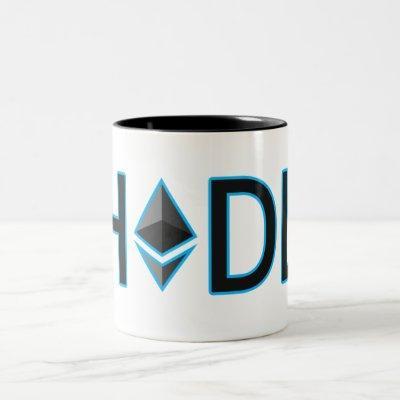 HODL onto Your Ethereum Two-Tone Coffee Mug