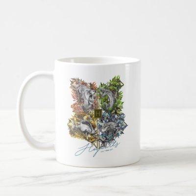 HOGWARTS™ Badge Floral Graphic Coffee Mug