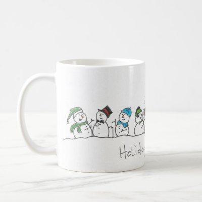 Holiday Snowman Celebration Coffee Mug