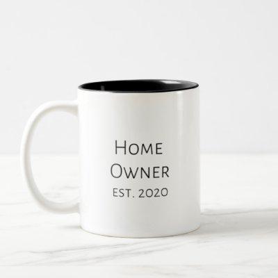 Home Owner Est. 2020 Two-Tone Coffee Mug