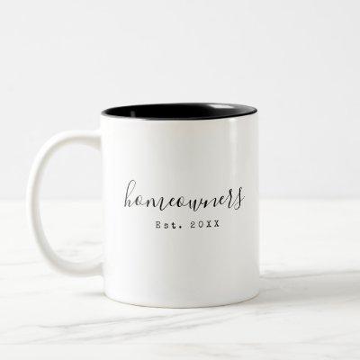 Homeowners New Home Newlywed Simple Custom Mug