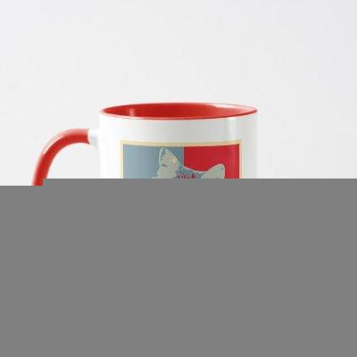 Hosico - Red Blue Illustration Mug