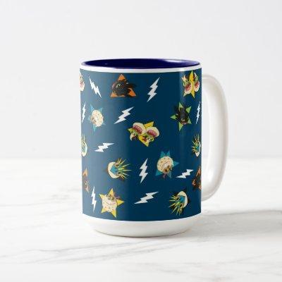 How To Train Your Dragon   Dragon Badges Pattern Two-Tone Coffee Mug