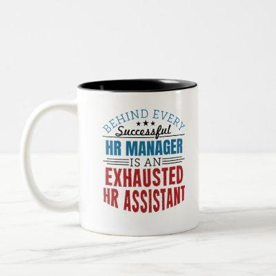 HR Assistant Funny Quote Human Resources Two-Tone Coffee Mug