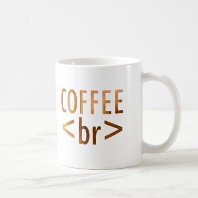 html Coffee Break Watercolor Typography Funny Code Coffee Mug