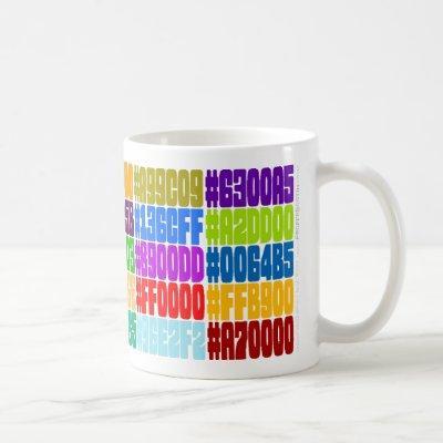 HTML Color Mug. (Hex RGB Color Specs) Coffee Mug