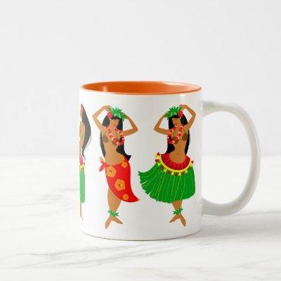Hula dancers mug