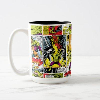 Hulk Comic Book Panel Pattern Two-Tone Coffee Mug