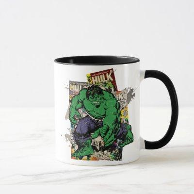 Hulk Retro Comic Graphic Mug