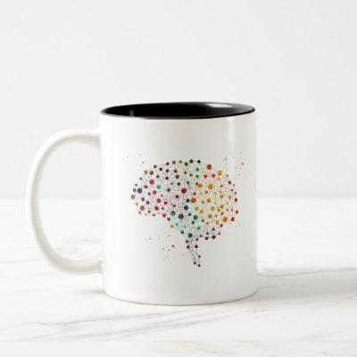 Human brain Two-Tone coffee mug