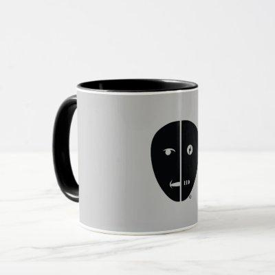Humbot Design with Gray Back Mug