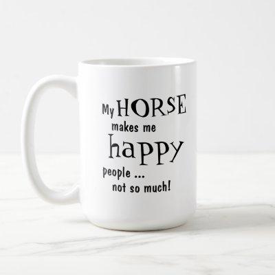 Humorous Horse Mug