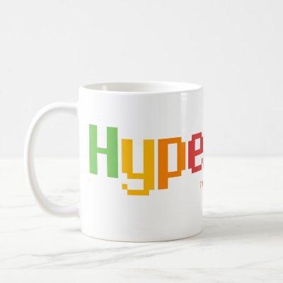 HyperCard - the mug - in the Apple rainbow colors