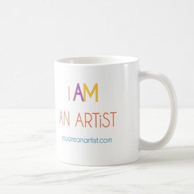 I AM an ARTiST mug