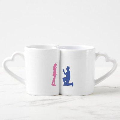 I asked her & I said yes Engaged Nesting Mug Set