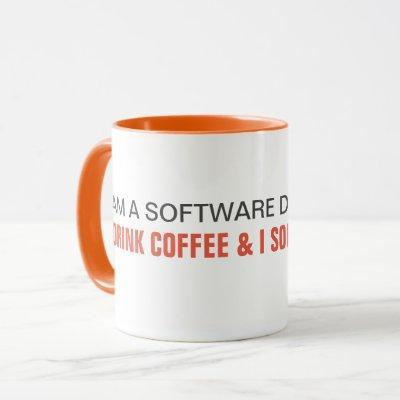 I drink coffee and I solve problems - developer Mug