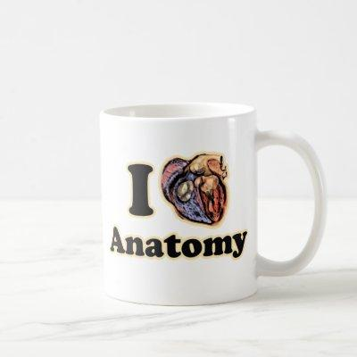 I heart Anatomy Science Super Geek Teacher Coffee Mug