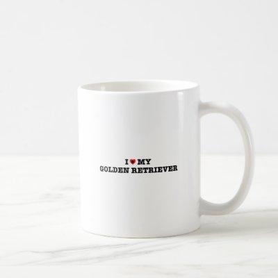 I Heart My Golden Retriever Coffee Mug