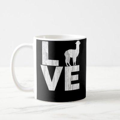 I Love Alpacas Two Tone Distressed Effect Coffee Mug