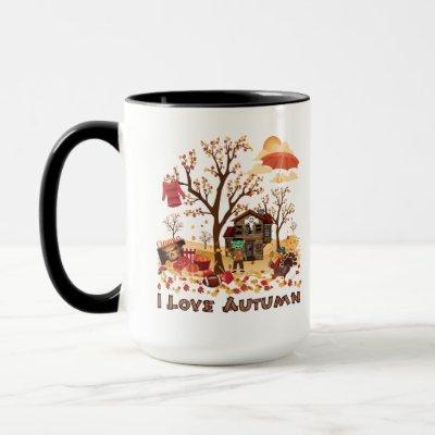 I Love Autumn - Fall Scenery Mug