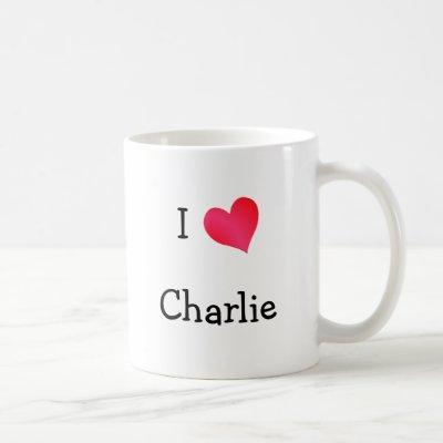 I Love Charlie Coffee Mug