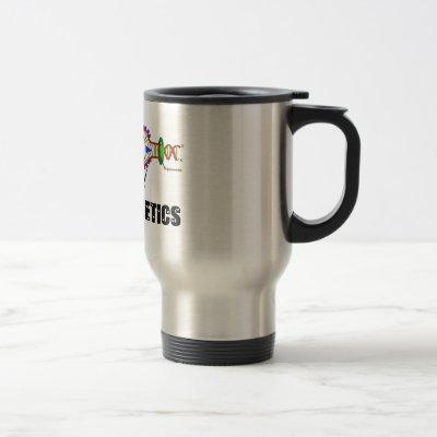I Love Genetics (DNA Replication) Travel Mug