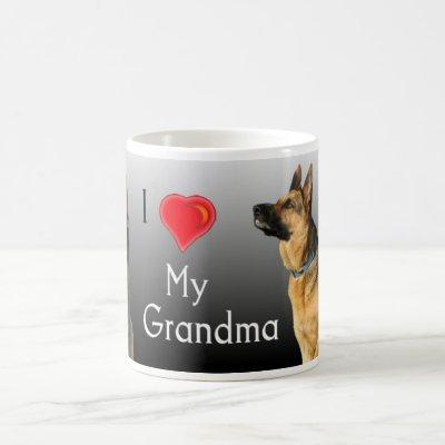 I Love Grandma German Shepherd Coffee Mug