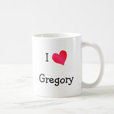 I Love Gregory Coffee Mug