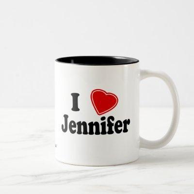 I Love Jennifer Two-Tone Coffee Mug