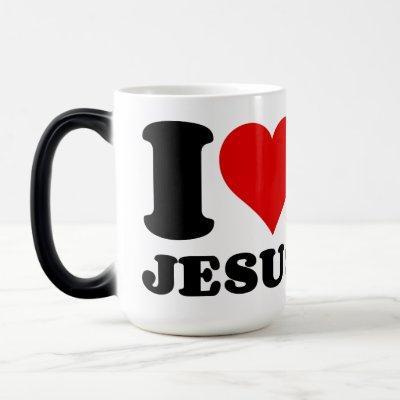 I LOVE JESUS MAGIC MUG
