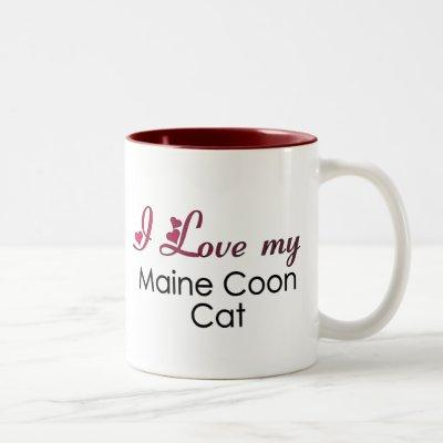 I Love my Maine Coon Cat Two-Tone Coffee Mug