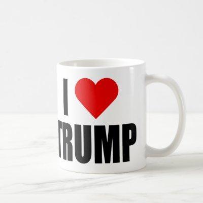 """I LOVE TRUMP"" (right-handed) Coffee Mug"