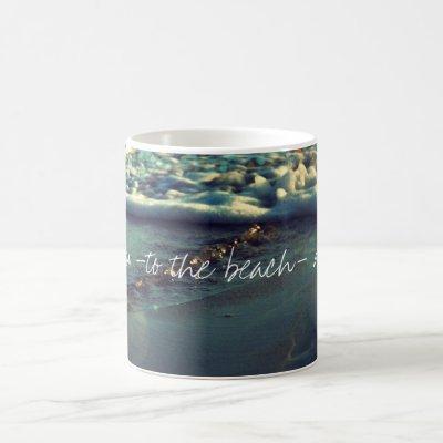 I love you to the beach and back coffee mug