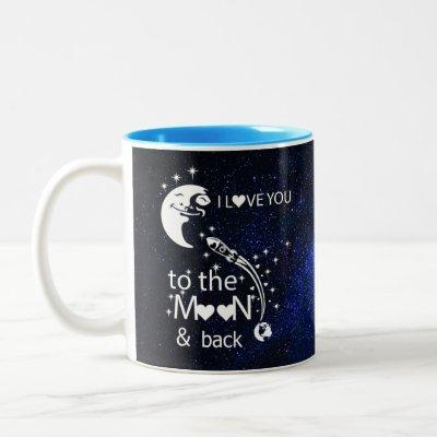I love you to the moon & back - Universe Two-Tone Coffee Mug