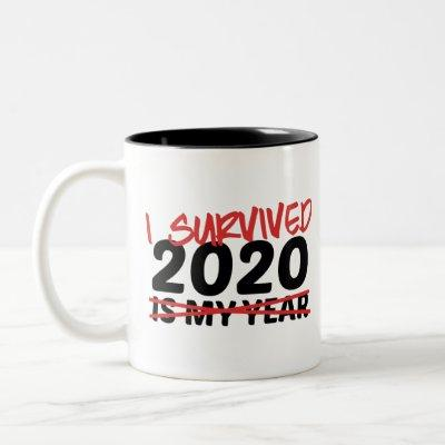I Survived 2020 Two-Tone Coffee Mug