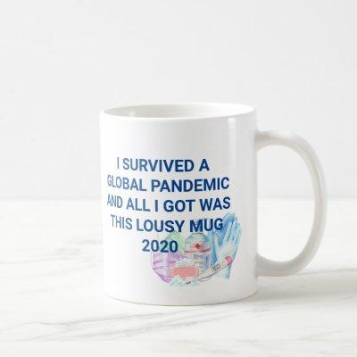 I survived Global Pandemic Funny Covid 2020 Coffee Mug