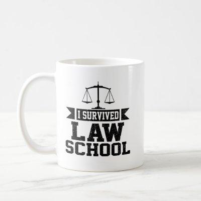 I Survived Law School Graduation Gift For Lawyer Coffee Mug