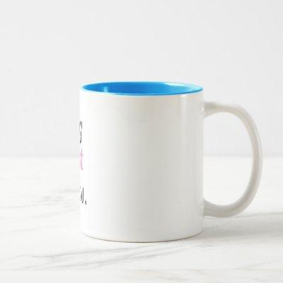 """I told my therapist about you."" Two-Tone Coffee Mug"