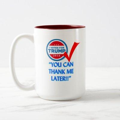 I Voted For Trump Two-Tone Coffee Mug