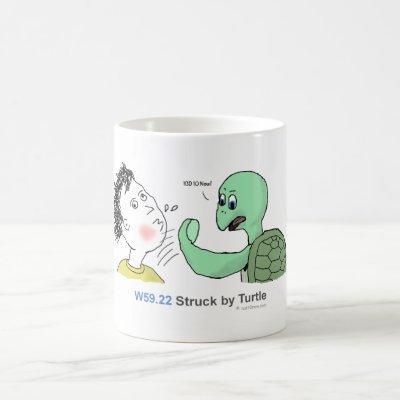 ICD-10: W59.22 Struck by turtle Coffee Mug