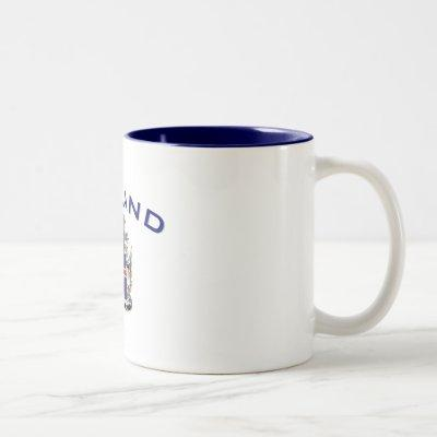 Iceland Coat of Arms Two-Tone Coffee Mug