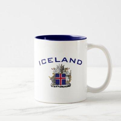 Iceland Coat of Arms Two-Tone Coffee Mug