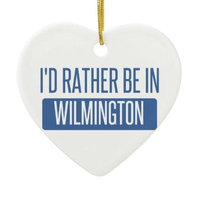 I'd rather be in Wilmington NC Ceramic Ornament
